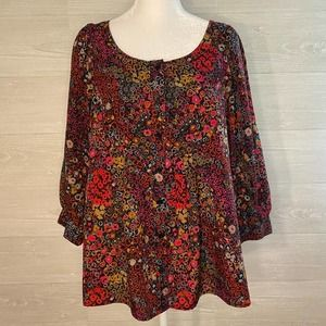 White Stag Red 3/4 Sleeve Fashion Top